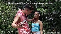 Horny Teen Apolonia Lapiedra Receives Facial in Public!
