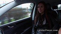 Beautiful busty Euro teen bangs in car pov Preview