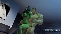 She hulk and Hulk Bhuttuwap.In video
