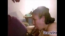 Бабушка делает минет домашние