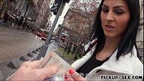 Eurobabe Meg Magic flashes boobs and nailed by stranger