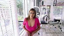 Huge hooters brunette bangs in the gym