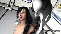 Sexy 3D brunette getting fucked hard by an alien