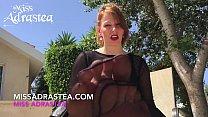 Miss Adrastea Nylonfüße in schwarzer Strumpfhose