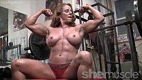 Naked Female Bodybuilder Sexy Red Headed Muscle Vorschaubild