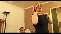 Mature Nina Hartley gets an interracial anal