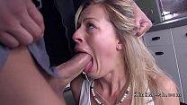 Sweat blonde anal fucked in bondage thumb