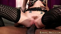 Goth fetish babe gets bbc porn thumbnail