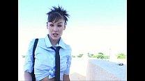 Jade Hsu - Schoolgirl Strips And Fucks