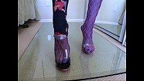 Jade Hsu - schoolgirl strips and fucks [스타킹 stockings]