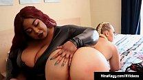 Curvy Nina Kayy StrapOn Fucked By Black BBW Jalisa Elite!