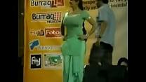 Paki Booby Stage Acctress Saima Khan shaking big boobs on stage