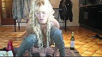 Annabelle Dangel Giant dildo anal play thumbnail
