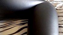 Black Pantyhose under Black Wet Look Leggings Vorschaubild