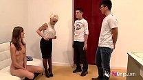 FAKings school! Gina teaches Ainara and Jordi an Anatomy lesson