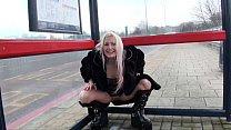 Delightful UK Pornstar Kaz B Pissing In Public
