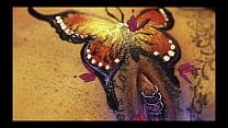 Тату бабочки на лобке порно