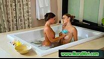 Sexy busty lesbos try nuru massage - Abigail Mac & Ryan Ryans preview image