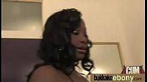 Ebony in a huge bukkake 16