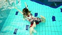 Hot Polish redhead swimming in the pool Image