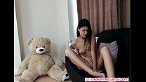 nice chick masturbates at home - more videos on...