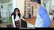 StepSiblings - Nerdy Teen Rides Stepbros Cock pornhub video