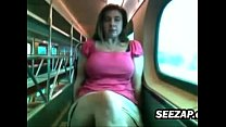 Fooling Around In Public On A Train porn thumbnail