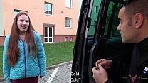 Amateur Babe in Sex Adventure in Van