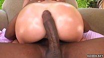 Busty Krissy Lynn takes monster cock