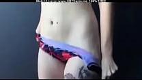Hot Tattooed Punk Girl Striptease