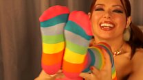 Striped socks porn tube