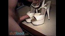 Fuck and cum on peep toe heels Vorschaubild
