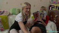 Russian schoolgirls studing for class