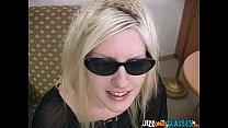 Cute Blonde gets Jizz on Glasses
