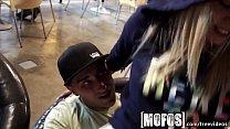 Mofos - Young couple fuck in café in public thumbnail
