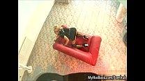 Aleska Diamond Looks Marvelous  Sitting On Her Red