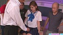 Schoolgirl Yura Kasumi is a hot japanese cum girl thumb
