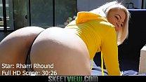 Teen PAWG Rharri Rhound gets her big booty cumm...