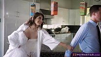 Young bride fucks the delivery boy before her w...