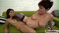 Latin hottie Frida Sante licks a granny