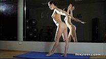 Image: Masha shows flexible body