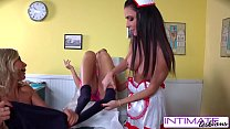 IntimateLesbians - Jessica, Puma and Nicole fucking naughty in the office thumbnail