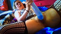 www.pornthey.com - british amateur slut lilprincess fucking massive dildo tumblr xxx video