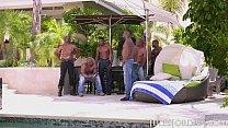 Jules Jordan - Riley Reid Interracial Gangbang Image