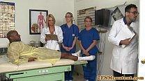 CFNM nurse Krissy Lynn group sex action