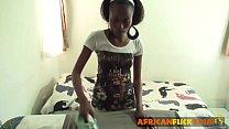 Young African teen working as persal maid pleasured bareback fucking - 9Club.Top