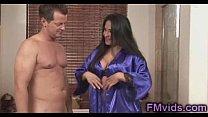 Busty Jenaveve Jolie with horny guy under shower