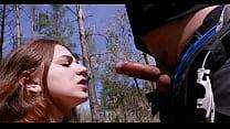 MILF Deepthroat Cock in Public and Swallow Closeup - Cristall Gloss thumbnail