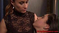Lezdom MILF humiliates her restrained sub />                             <span class=