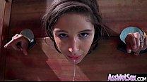 (Abella Danger) Superb Oiled Girl With Round Bi...